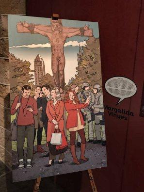 """""""Apócrifos. El Diocesano Ilustrado"""" Reinterpretación de Margalida Vinyes. Foto de JJ SS"""